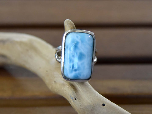 Larimar Ring - Sterling Silver - Size: 6