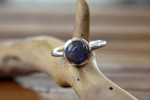 Blue Labradorite Ring - Sterling Silver - Size: 11