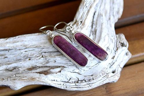 Purple Spiny Oyster Earrings