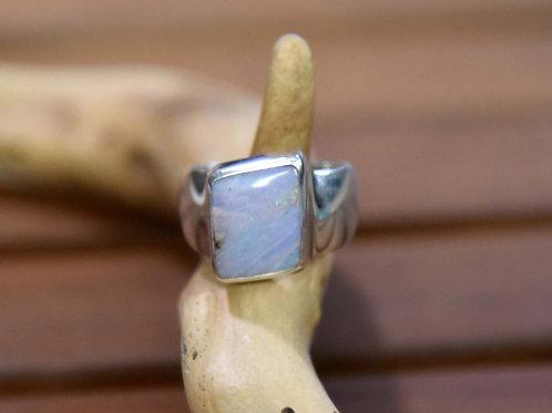 Boulder Opal Ring - Sterling Silver - Size: 8