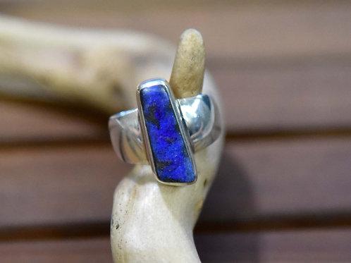 Boulder Opal Ring - Sterling Silver - Size: 7 3/4