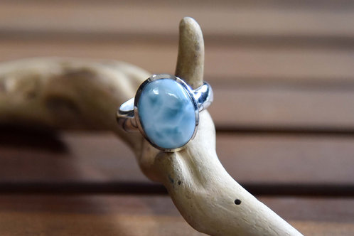 Larimar Ring - Sterling Silver - Size: 9