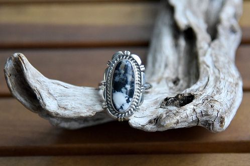 White Buffalo Ring - Sterling Silver - Size: 10