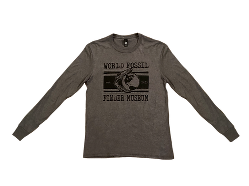 Men's World Fossil Finder Museum Long Sleeve T-Shirt