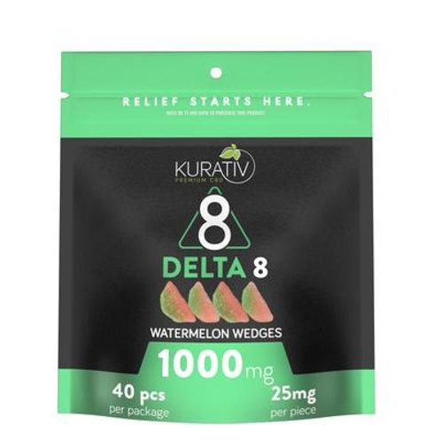 Delta 8 THC Watermelon Wedges 40pc = 1000mg