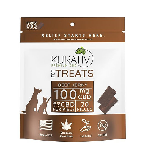 CBD Beef Jerky for Pets 20pc = 100mg