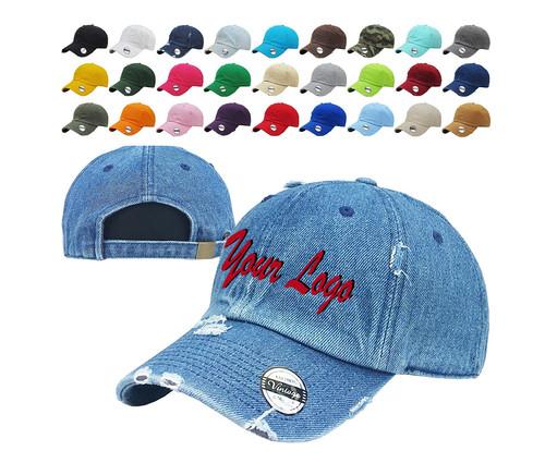 4c9cc9254 Distressed Baseball Cap KB4005-Kbethos/ Custom Hats / Embroidery Hats