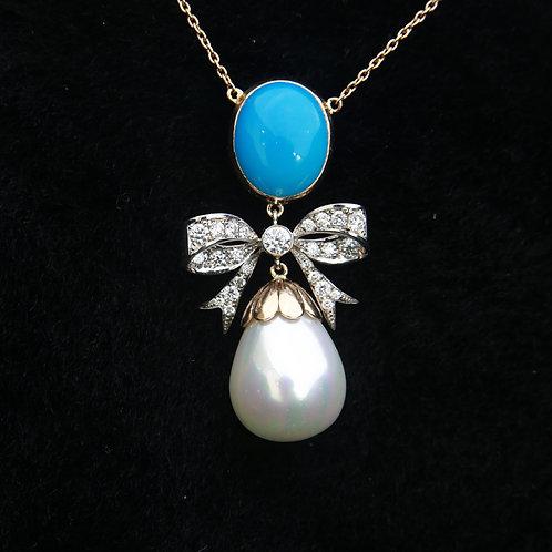 NEW_Diamond Pearl Ribbon Set