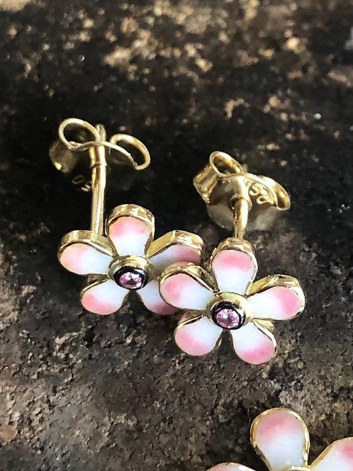 Pembe Menekşe Küpe // Pink Violet Earring