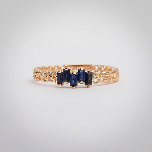 Heart Beating - Calm Blue Ring