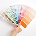Hand Holding Color Swatches