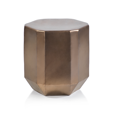 Beveled Earthenware Stool in Bronze