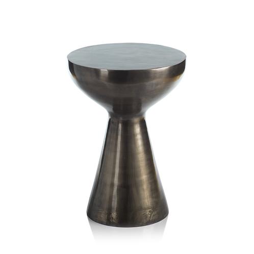 Kenya Round Silver Antique Stool