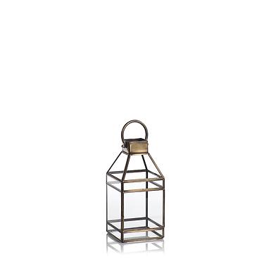 Small Medici Antique Brass Lantern - Set of 2