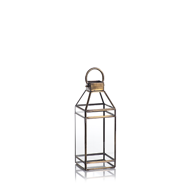 Medium Medici Antique Brass Lantern - Set of 2