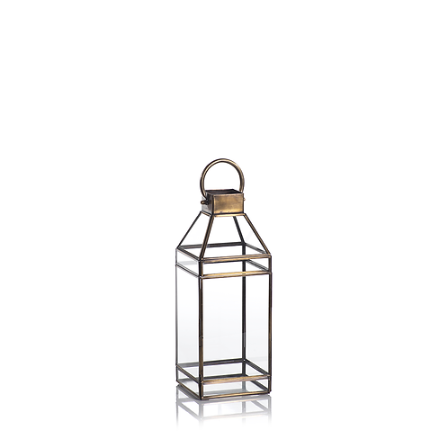 Medium Medici Antique Brass Lantern - Set of 2