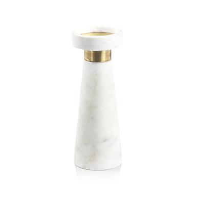 Large Marmo Marble Pillar Holder - Set of 4