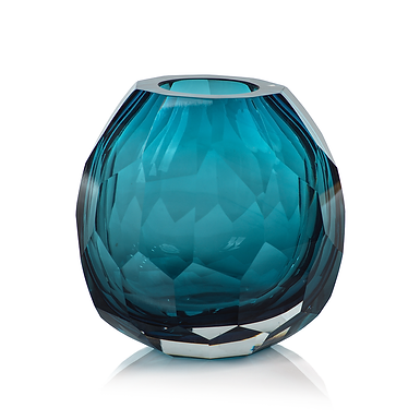 Medium Maya Hand Cut Glass Vase