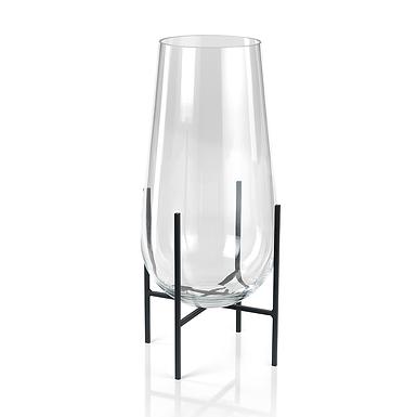 Large Salema Vase/Hurricane on Metal Stand
