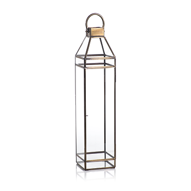 Extra Large Medici Antique Brass Lantern