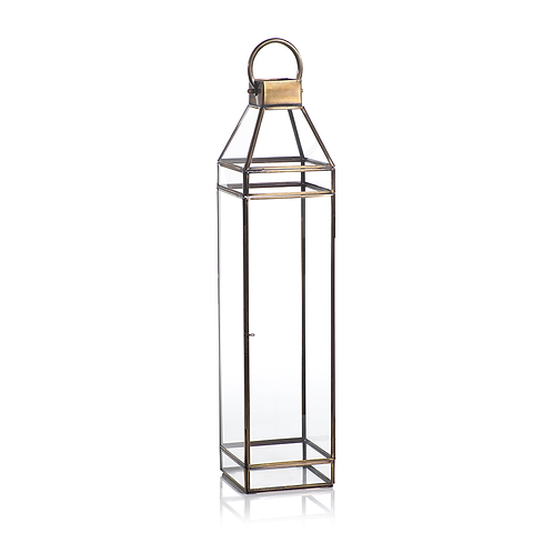 Extra Large Medici Antique Brass Lantern