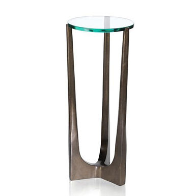 Cortina Drink Table with Glass Top