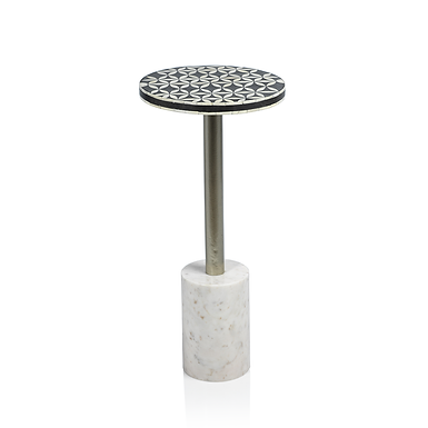 Round Sultana Cocktail Table on Marble Base