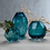 Thumbnail: Small Maya Hand Cut Glass Vase - Set of 2