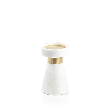 Small Marmo Marble Pillar Holder - Set of 4