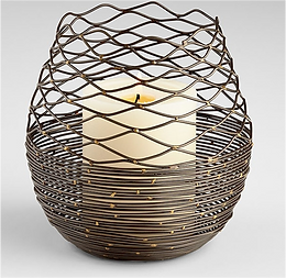 Coiled Silk Candle Holder