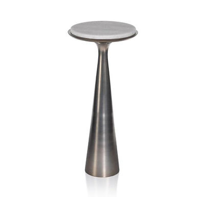 Funnel Drink Table with Marble Top