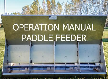 Hog Feeder Operation: Paddle and Tray Hog Feeder Manuals