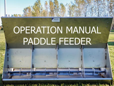 Hog Feeder Operation: Paddle and Tray Hog Feeder Manuals