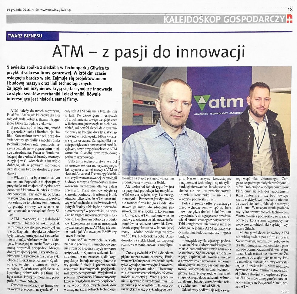 Artykuł Kalejdoskop Gospodarczy Nowiny Gliwickie