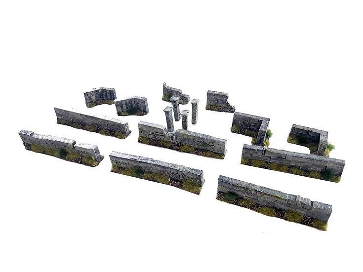 Set de murets en pierre (28mm)