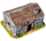 mason décor cheminée chaumière toit colombages décor miniature scenery house building bâtiment