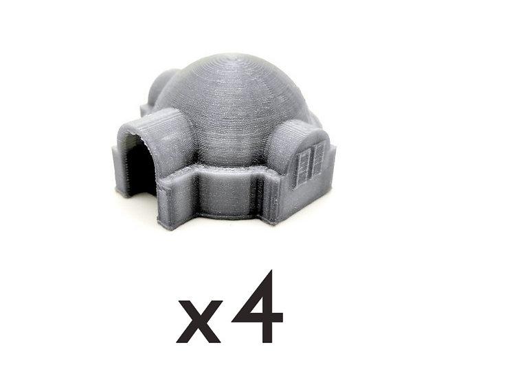 Abri à dôme carré x4 (6mm)