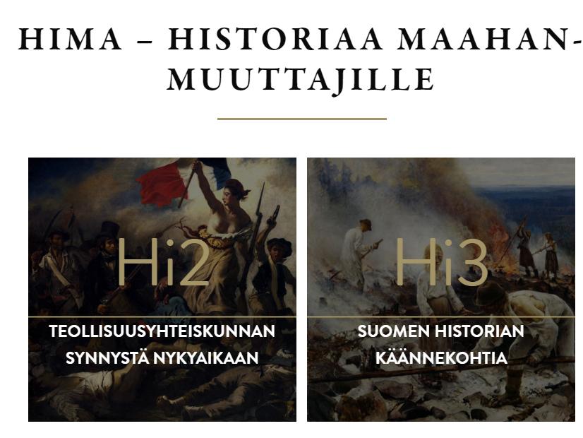 Historiaa maahanmuuttajille