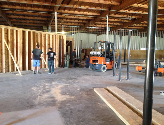 Jayson Johnstone - during construction