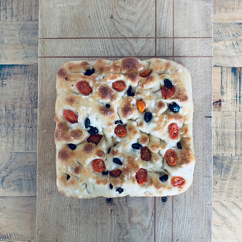 Semi Dried Tomatoes+ Olives Sourdough Focaccia