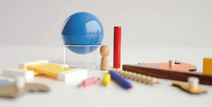 Alguns materiais Montessori