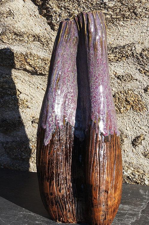 """Vase """"ascidie"""" 19x16H48cm"""