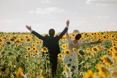 Les mariés aux Tournesols