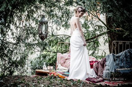 Décor shooting photo robe de mariée