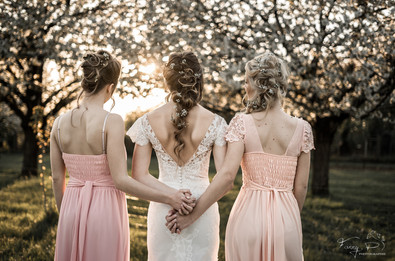 Préparation mariée et demoiselles d'honn