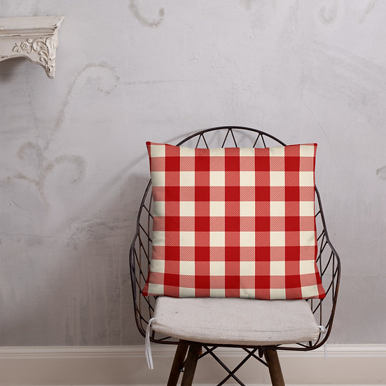 Basic Pillow Red Plaid