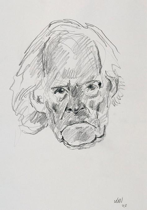 Head of R.S.Thomas, 1998