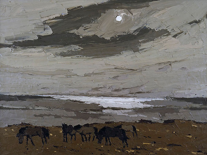 Welsh ponies by Kyffin Williams