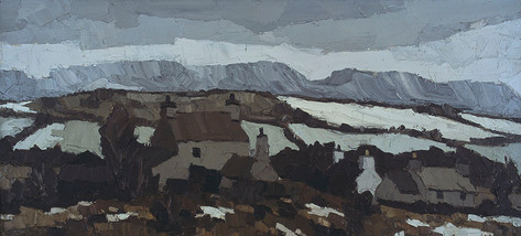 Caernarfonshire Mountains from Anglesey, 1959