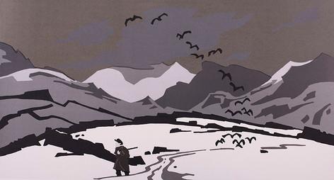 Pontllyfni in Snow, 1977